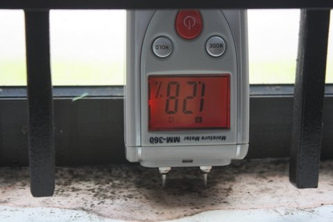 High Damp Meter Readings